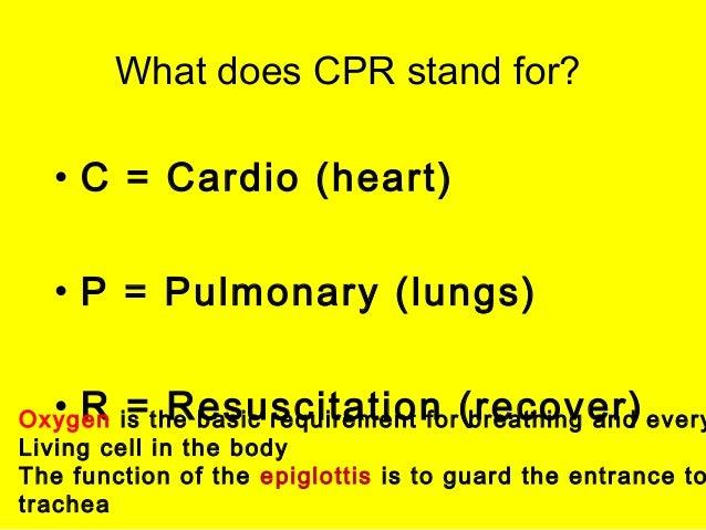 Cardio Pulmonary Resucitation by Palatine High School