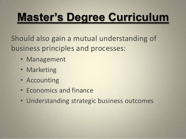 Is a masters a degree