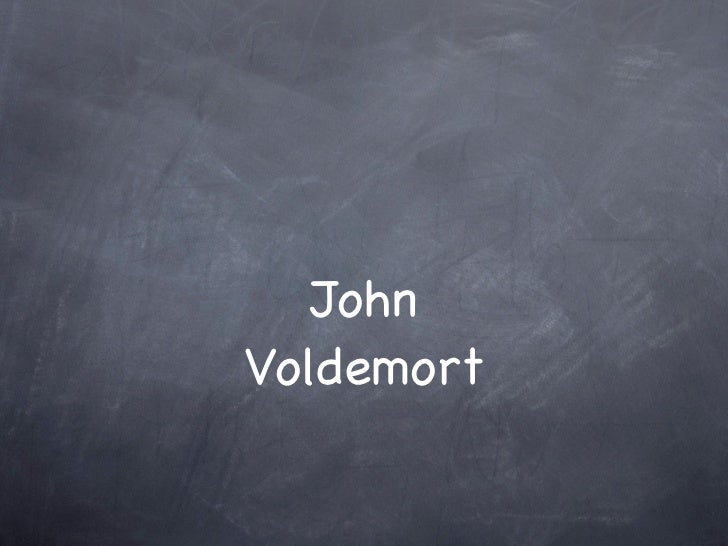 JohnVoldemort