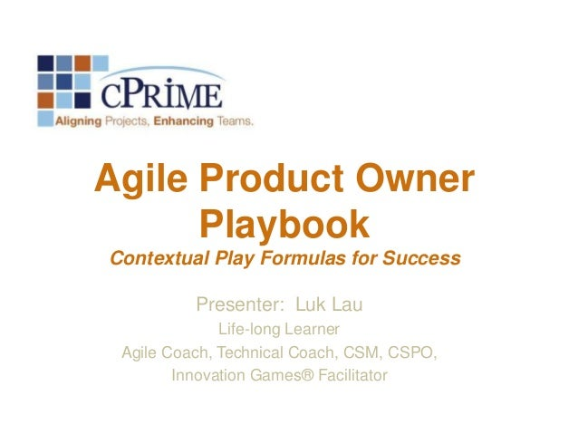 The Product Owner Playbook - Introduction