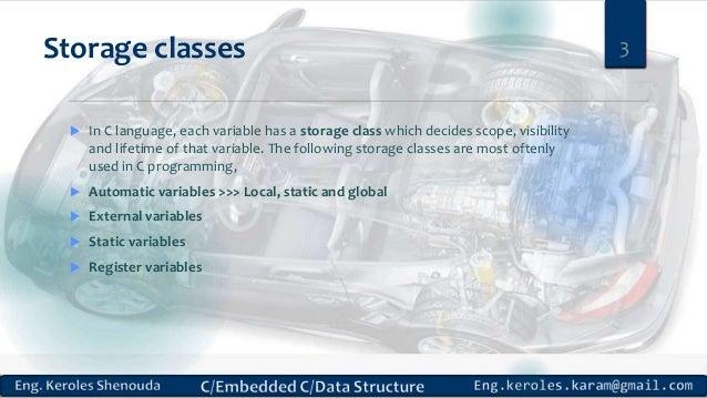 C static global variable external storage