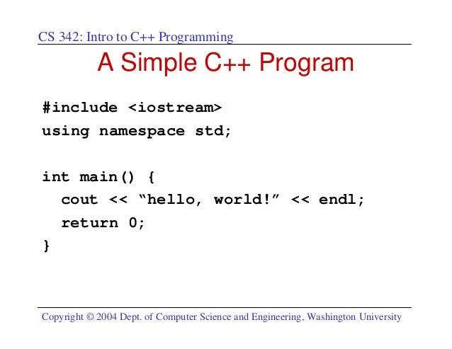 C++ programming intro