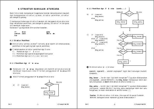 6 STRUKTUR KAWALAN ATURCARAC mempunyai beberapa struktur kawalan utk mengawal aliran aturcarabagi melakukan pemilihan, per...