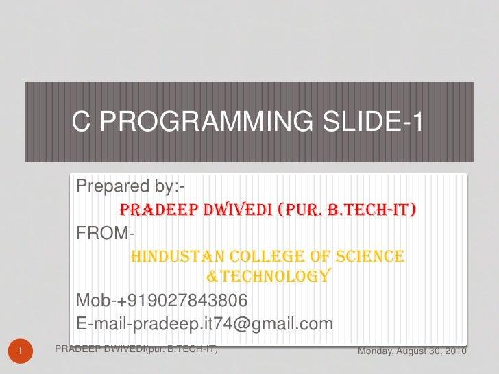 C programming slide c01