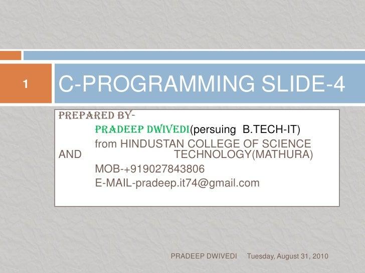 C programming slide c04