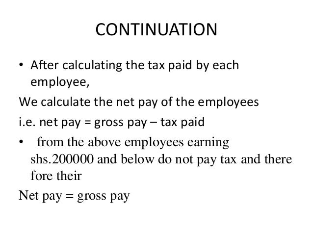how to calculate net pay