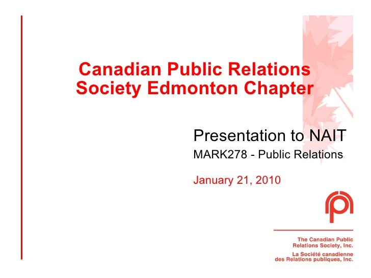 CPRS presentation to NAIT PR students