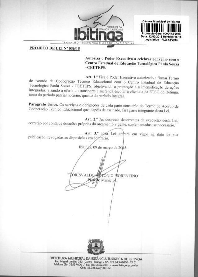 PREFEITURA DA I inESTANCIA TURÍSTICA DE Art. 3.° ará em vigor na data de sua publicação, revogadas as disposições em c NI...