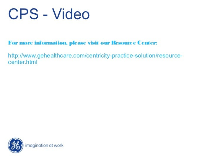 CPS - VideoFor more information, please visit our Resource Center:http://www.gehealthcare.com/centricity-practice-solution...