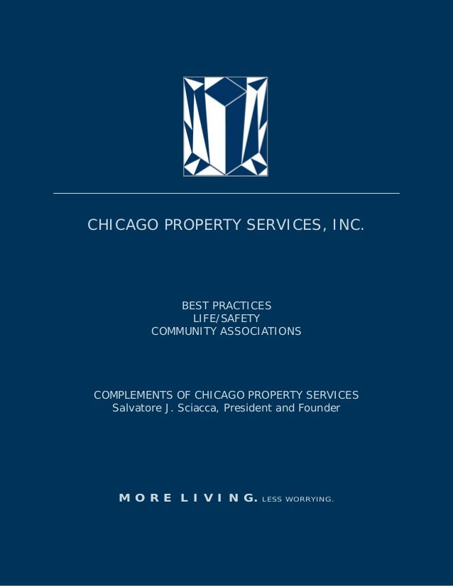 LIFE/SAFETY BEST PRACTICES: COMMUNITY ASSOCIATIONS 2013