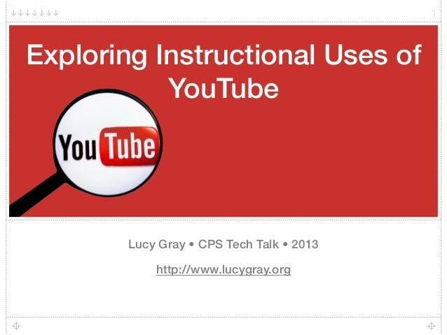 Exploring Instructional Uses of YouTube Lucy Gray • CPS Tech Talk • 2013 http://www.lucygray.org 1