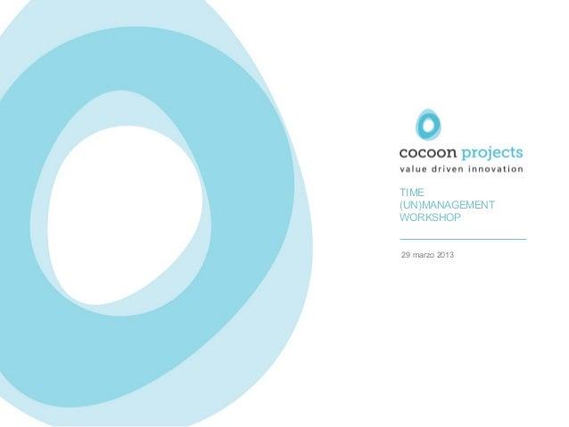 Cocoon Projects - Time (un)Management workshop