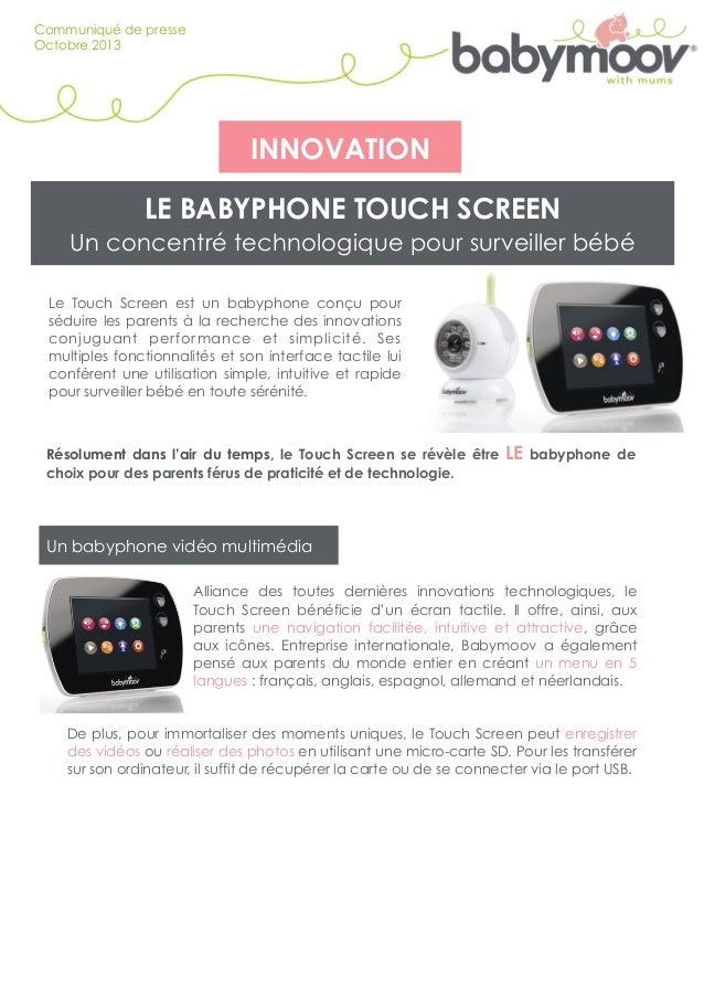 Communiqué de presse : Babyphone Touch Screen