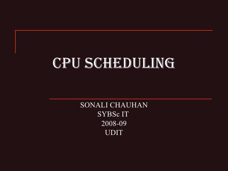 Cpu Scheduling Galvin