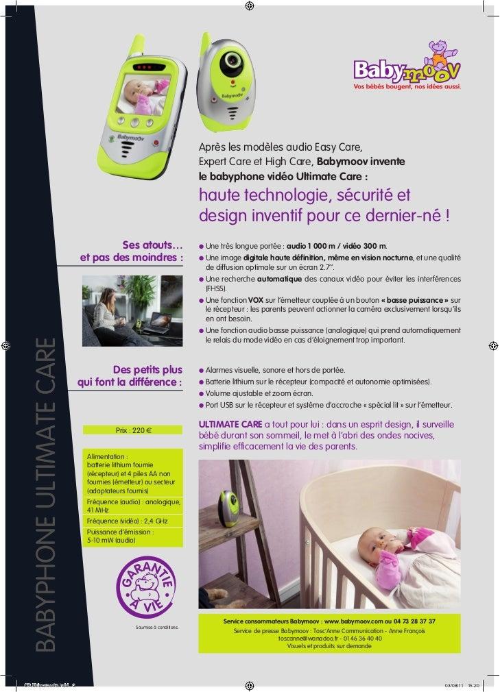 communiqu de presse babyphone ultimate care. Black Bedroom Furniture Sets. Home Design Ideas