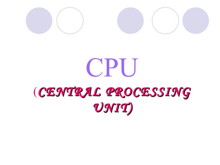 Cpu ppt cse