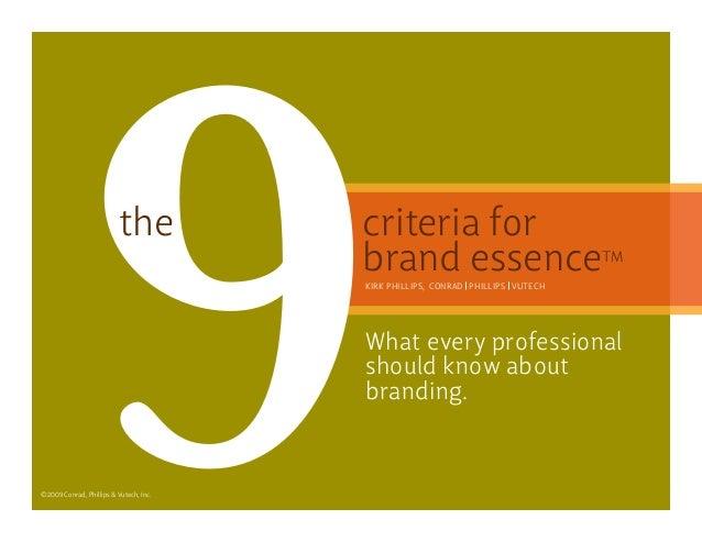 9 criteria for brand essence