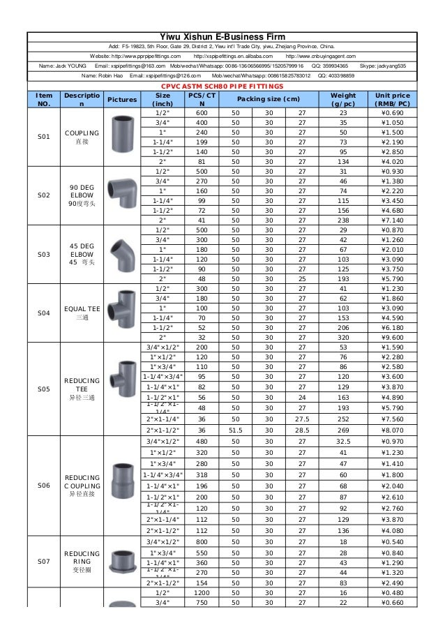 Cpvc astm sch pipe fittings