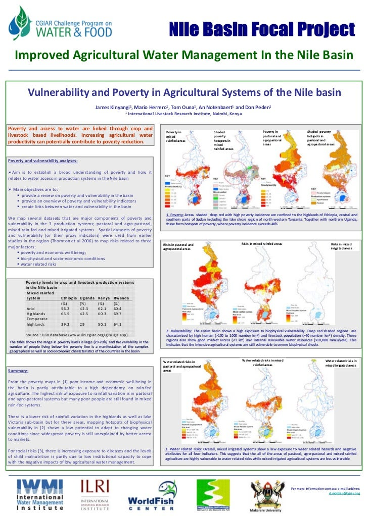 FU Berlin        Improved Agricultural Water Management In the Nile Basin              Vulnerability and Poverty in Agricu...
