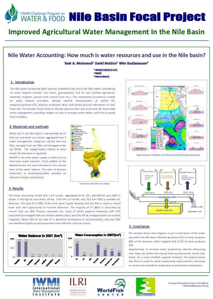 Nile water accounting — how much is water resources and use in the Nile basin?