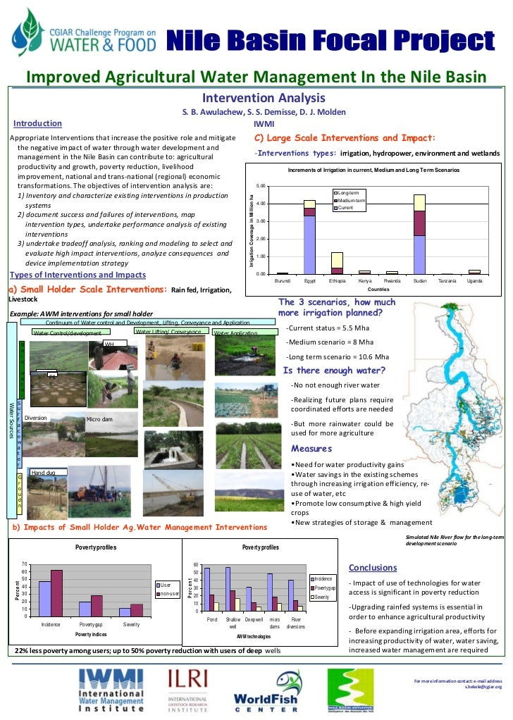 FU Berlin                                       Improved Agricultural Water Management In the Nile Basin                  ...