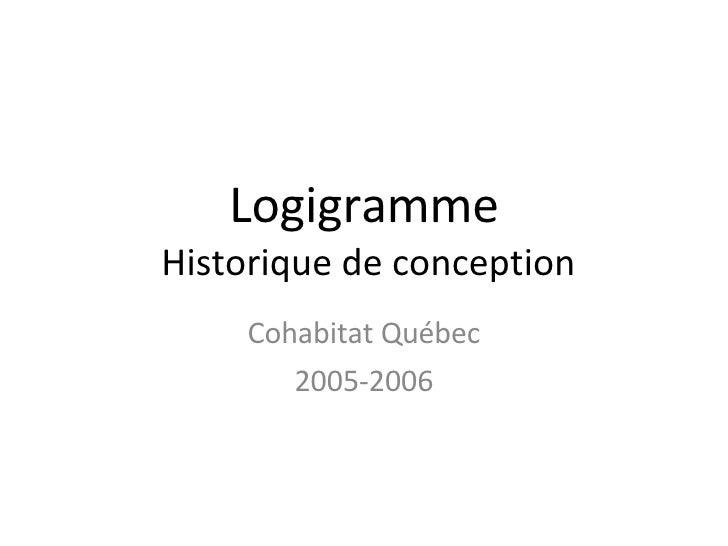 Logigramme  Historique de conception Cohabitat Québec 2005-2006