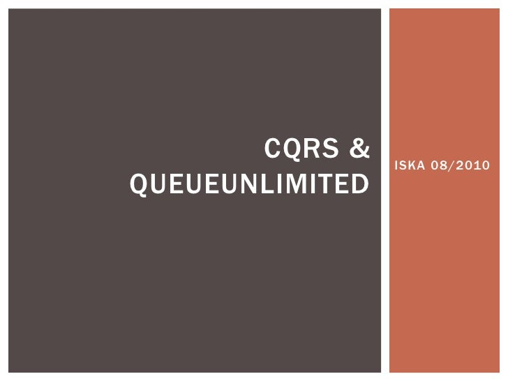 CQRS & Queue unlimited