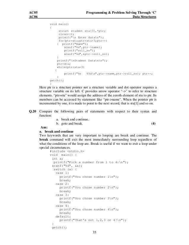 C problem solving questions