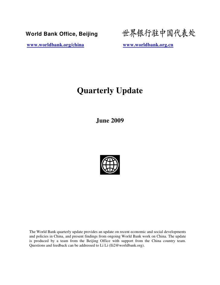 Quarterly Update - June 2009