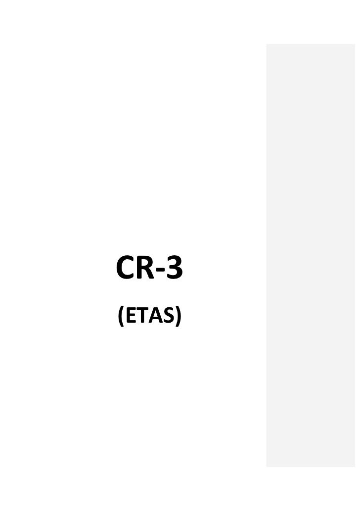 Cr 3 ETAS