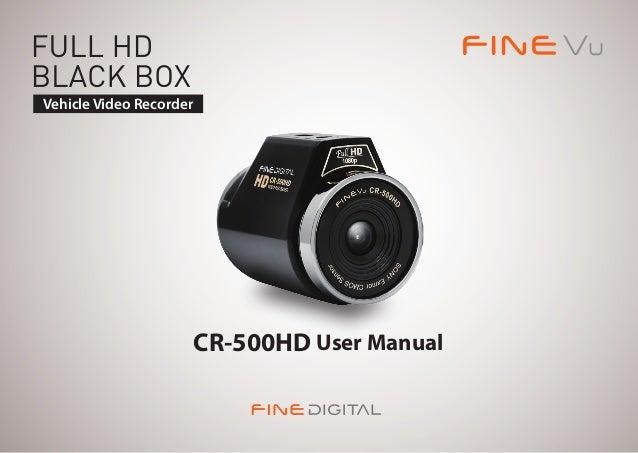 FINEVu CR500HD English Manual - www.bilkamera.se