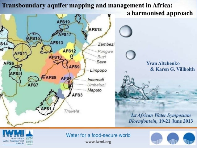 Photo:DavidBrazier/IWMI www.iwmi.org Water for a food-secure world Transboundary aquifer mapping and management in Africa:...