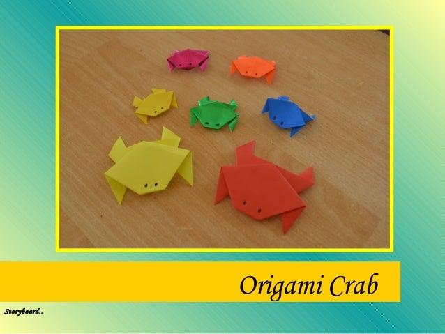 Origami crab storyboard