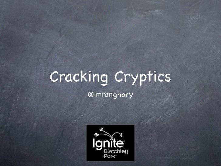 Cracking Cryptics     @imranghory