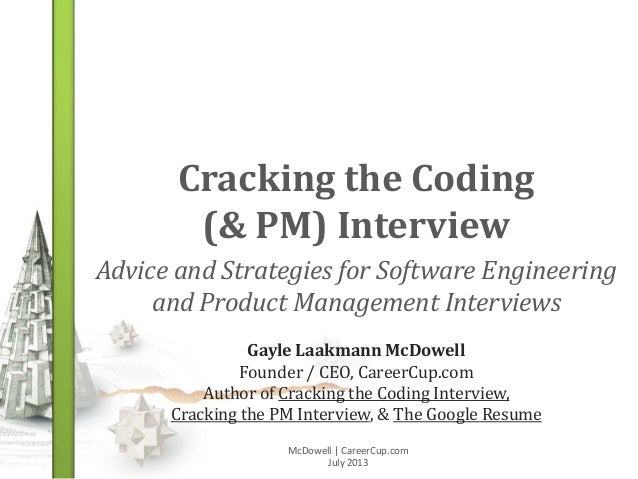 Cracking the Coding & PM Interview (Jan 2014)