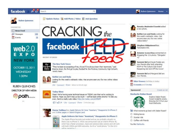 Cracking the Facebook Feed web 2.0 2011