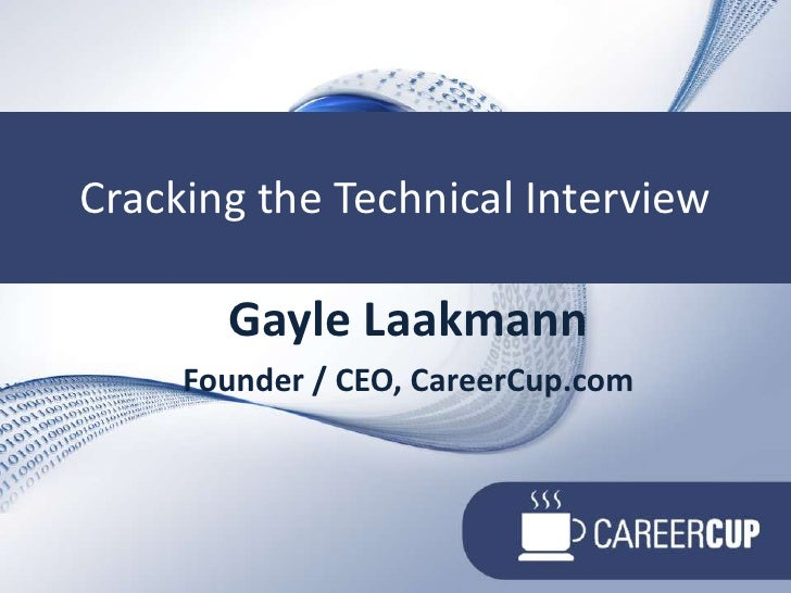 Cracking The Technical Interview   Uw