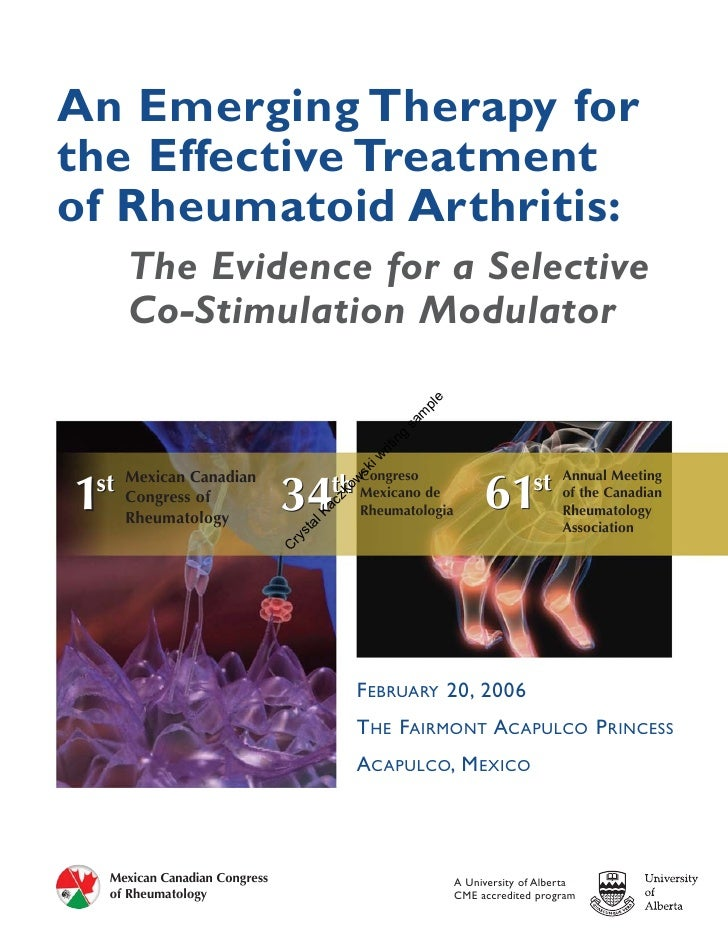 An Emerging Therapy for the Effective Treatment of Rheumatoid Arthritis:       The Evidence for a Selective       Co-Stimu...