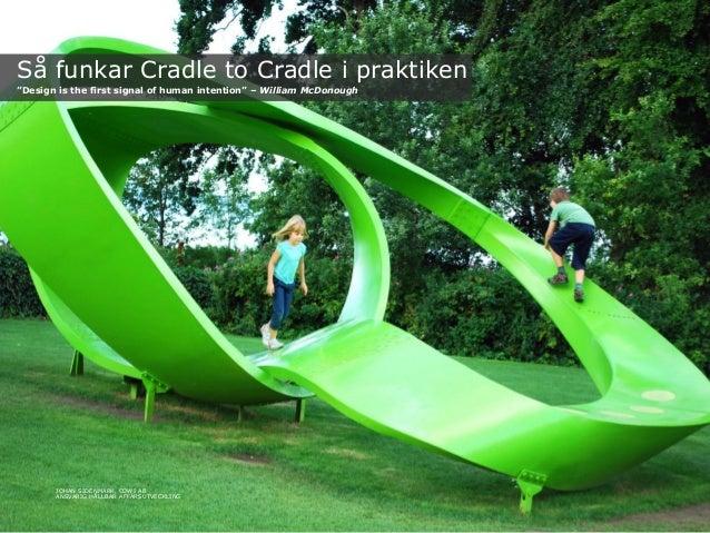 "Så funkar Cradle to Cradle i praktiken""Design is the first signal of human intention"" – William McDonoughJOHAN SIDENMARK, ..."