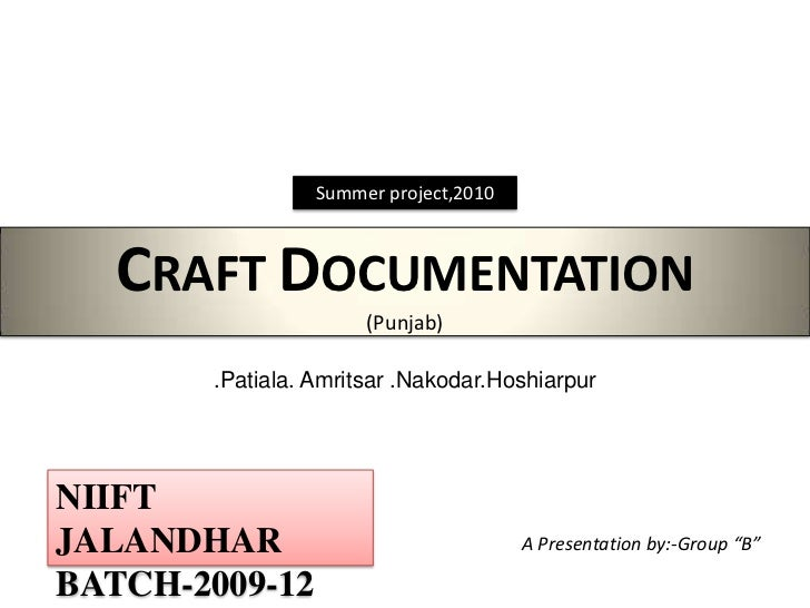 Craft documentation