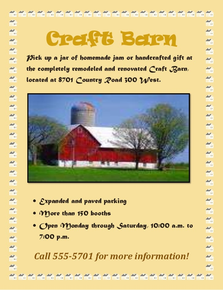 Craft Barn<br />762001428115Pick up a jar of homemade jam or handcrafted gift at the completely remodeled and renovated Cr...