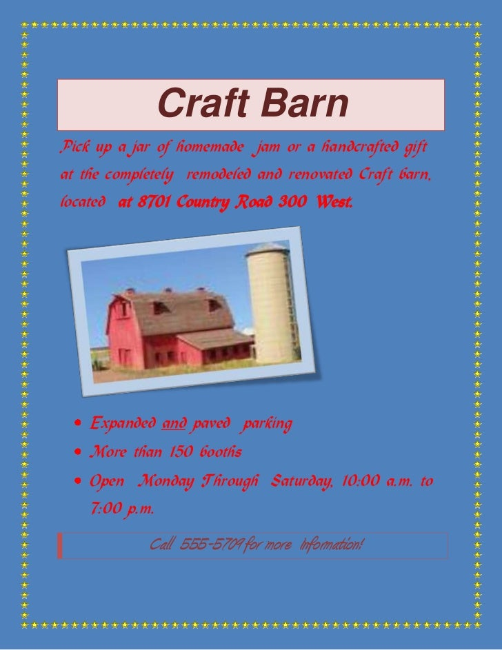 Craft Barn<br />Pick up a jar of homemade  jam or a handcrafted gift at the completely  remodeled and renovated Craft barn...