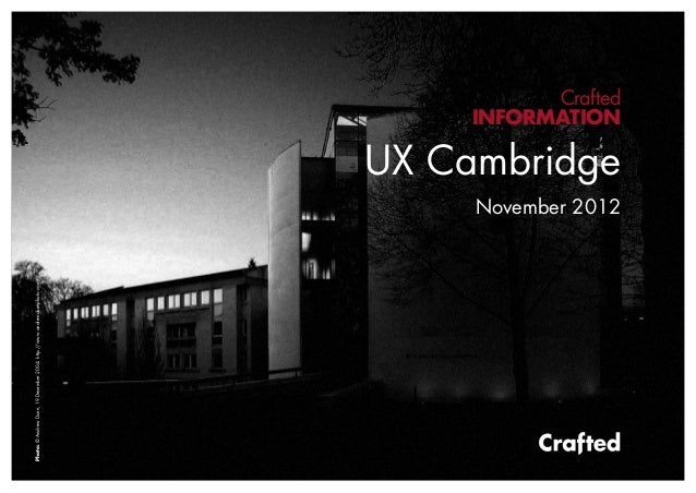 UX Cambridge Crafted round-up