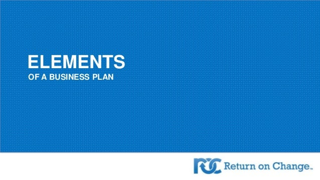 Element of a Business Plan