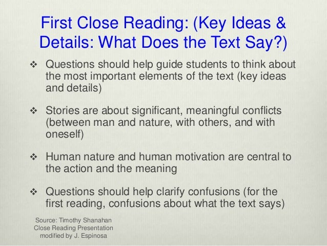 from analysis to essay writing about close reading