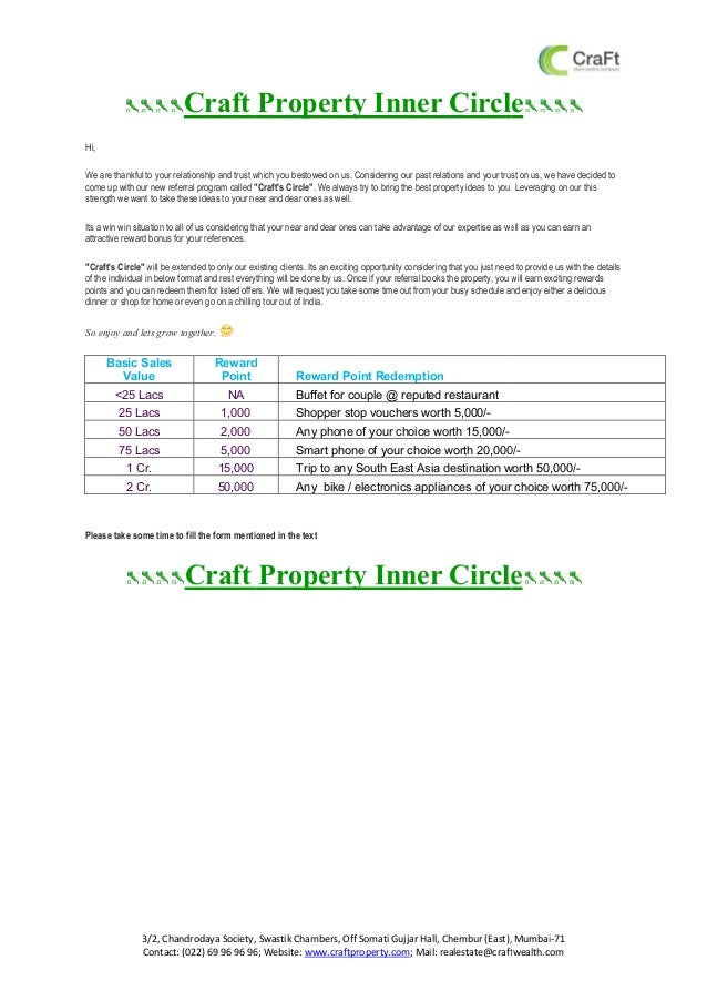 Craft property inner circle
