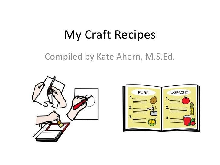 Craft recipe book