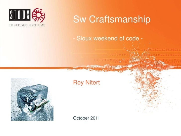 SW Craftsmanship in Sioux Embedded Systems