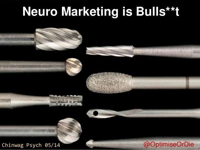 "Chinwag Psych London 14. Craig Sullivan, Optimal Visit Ltd. ""Neuro Marketing is Bulls***t"""