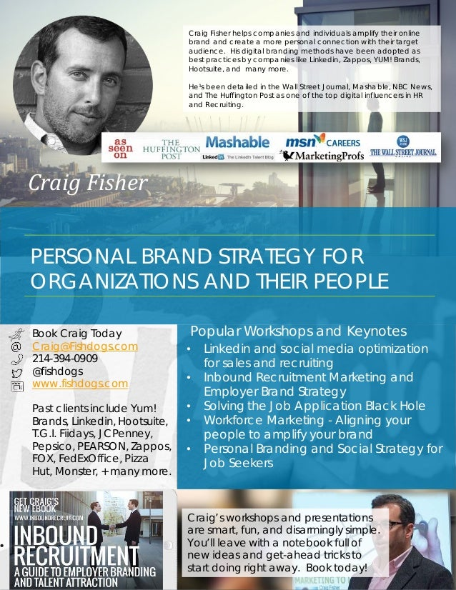 1 CRAIG FISHER STRATEGIST  SPEAKER  TRAINER Social Media and Digital Brand Strategy Social Brand Strategy